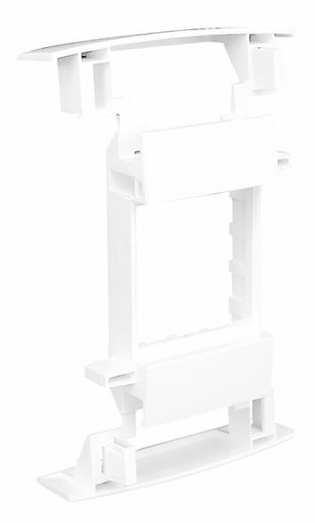 Adaptador Modular Q45 para Canales con Tapa L75 - 2 Módulos