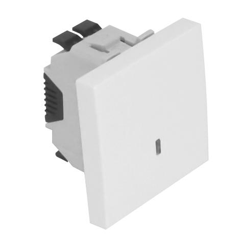 Pulsador Luminoso de 250V~ - 2 Módulos