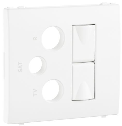 Cover Plate for R - TV - SAT - 2xRJ45 Multimedia Socket