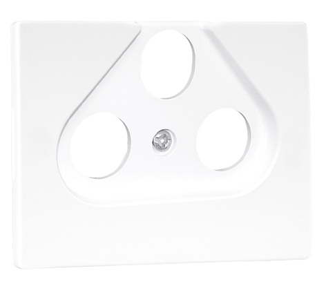 Cover Plate for R - TV - SAT Socket Multibrand 3 Outputs