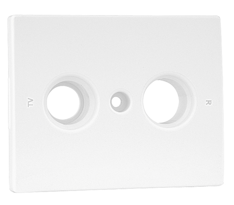 Cover Plate for R - TV Socket Multibrand 2 Outputs