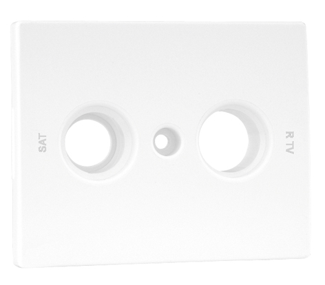 Cover Plate for R TV - SAT Socket Multibrand 2 Outputs