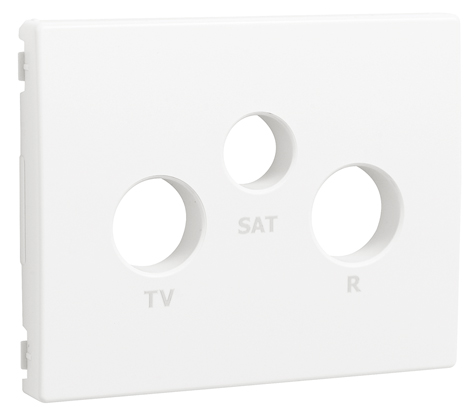 Cover Plate for R - TV - SAT Sockets