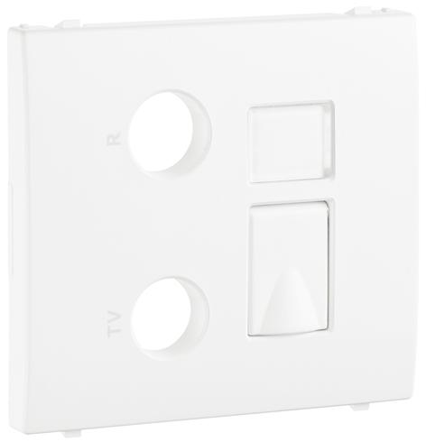 Cover Plate for R - TV - RJ45 /  R - TV - RJ45 - FO Multimedia Sockets