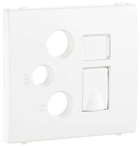 Cover Plate for R - TV - SAT - RJ45 /  R - TV - SAT - RJ45 - FO Multimedia Sockets