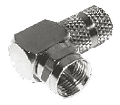 F Type 90º Male Plug