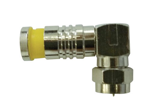 F Type 90º Male Plug Compression