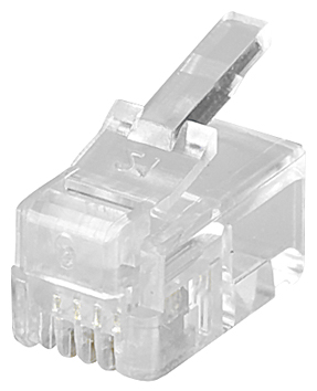 Fiche RJ - 4 Positions avec 4 Contacts