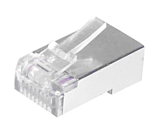 Fiche RJ45 FTP 8 Contacts (blindée)