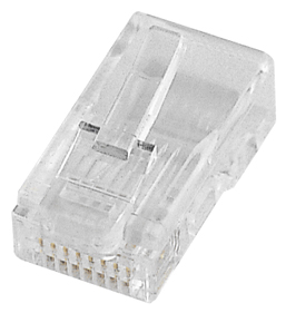 Fiche RJ45 UTP 8 Contacts (non blindée)