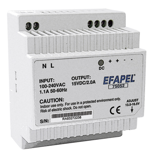 Power Supply 15V< ___ >30W for DIN Rail Mounting
