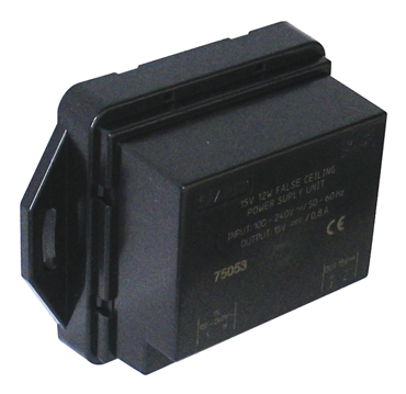 Power Supply 15V< ___ >12W for Installation in Hollow Ceilings