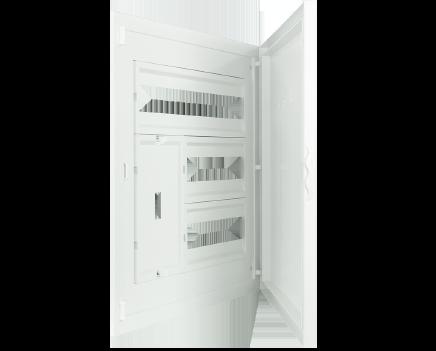 Intérieur et Porte pour Tableau à encastrer - 44 Modules (2x12+1x20)+AGCP