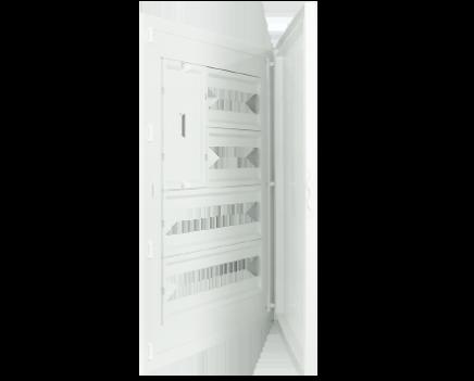 Intérieur et Porte pour Tableau à encastrer - 64 Modules (2x12+2x20)+AGCP