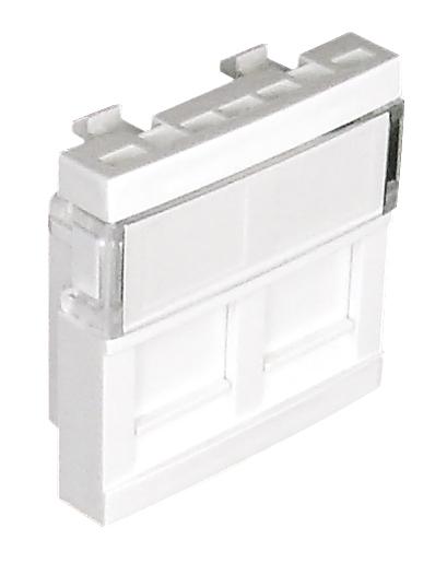 Doble Módulo para Conectores RJ45 - 2 Módulos