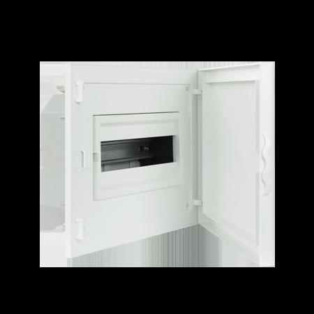 Complete Low Depth Flush Mounting Distribution Panelboard - 12 MODULES (1x12)