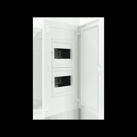 Complete Low Depth Flush Mounting Distribution Panelboard - 16 MODULES (2x8)