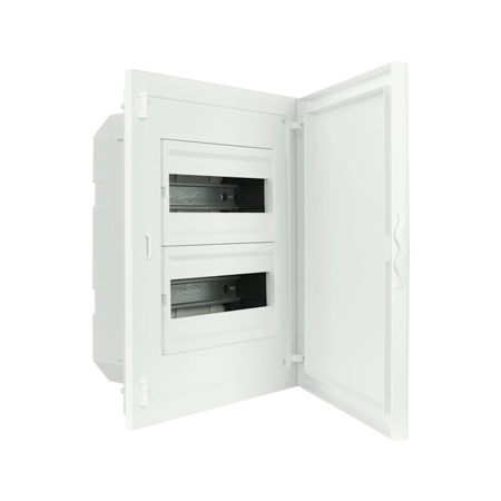 Complete Low Depth Flush Mounting Distribution Panelboard - 24 MODULES (2x12)