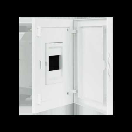 Complete Low Depth Flush Mounting Distribution Panelboard - 4 MODULES (1x4)