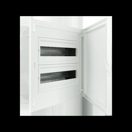 Complete Low Depth Flush Mounting Distribution Panelboard - 40 MODULES (2x20)