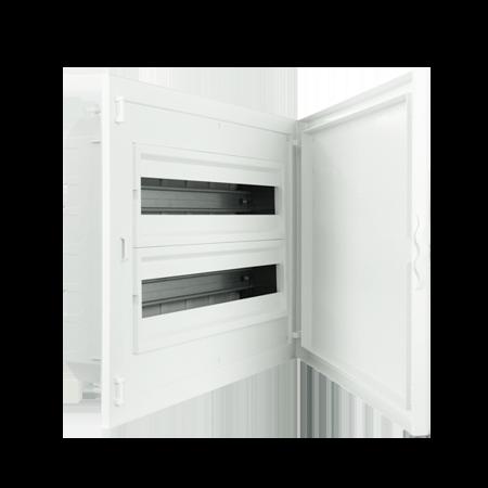 Complete Low Depth Flush Mounting Distribution Panelboard - 48 MODULES (2x24)
