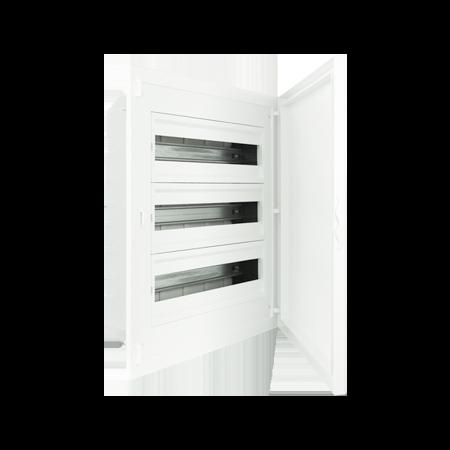 Complete Low Depth Flush Mounting Distribution Panelboard - 60 MODULES (3x20)