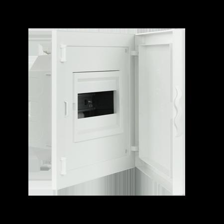 Complete Low Depth Flush Mounting Distribution Panelboard - 8 MODULES (1x8)