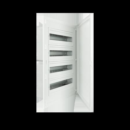 Complete Low Depth Flush Mounting Distribution Panelboard - 80 MODULES (4x20)