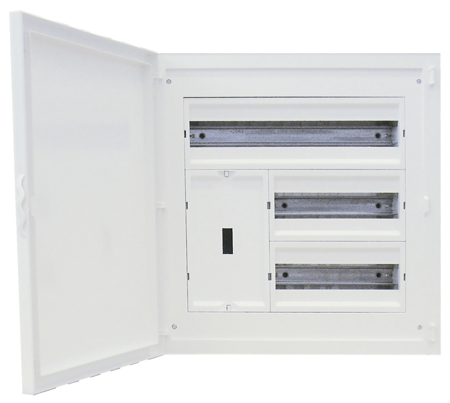 Tableau d'entrée Complet à encastrer - 44 Modules (2x12+1x20)+AGCP