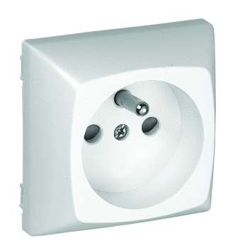 Safety Earth Socket (French type) with Screwless Terminals