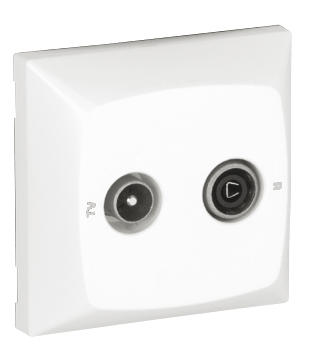Equalized R - TV Socket for Series Connection (Crossover Type)