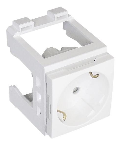 Earth Socket (Schuko Type) with Blockage and Signal Light